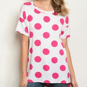 Tops - ARRIVED! Fun Polka Dot/Floral print